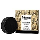 Meina - Haarseife Naturkosmetik - Bio Shampoo Bar mit Aktivkohle gegen Schuppen (1 x 80 g),...