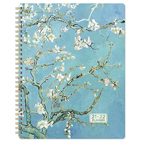 2021-2022 Planner - Weekly & Monthly Planner Jul 2021 - Jun 2022 with Flexible Hardcover, Strong Twin- Wire Binding, 12 Monthly Tabs