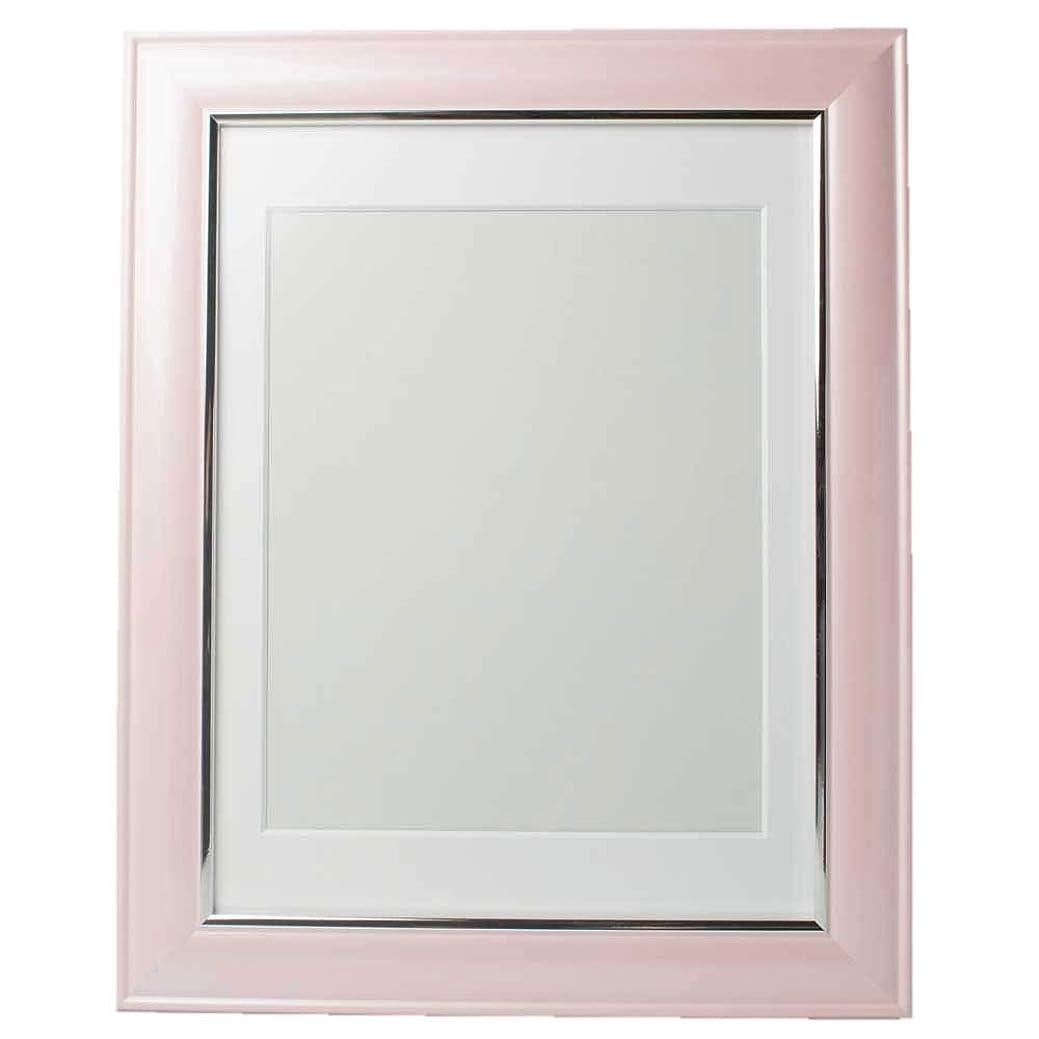 橋酔って太平洋諸島佐藤葬祭 遺影 ピンク もも色 額縁 肖像額 葬儀用四つ切写真 無反射ガラス