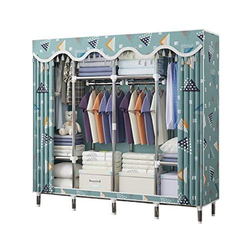 Wardrobe Rollsnownow Faltbarer Canvas-Schranktaschen und Kleiderstange, Vliesstoff, faltbar, Größe: 170 x 46 x 170 cm (A))
