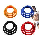 Traje de anillo de silicona ajustable de 4 colores para aumentar los tres enlaces, necesarios para los deportes masculinos (combinación de 4 colores)