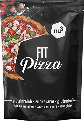 nu3 Fit Pizza - 270 g of Low carb Flour for Protein Pizza Dough - Excellent Mix for Crunchy Pizza Crust - 100% Vegan and Gluten Free - Ideal During Low carb Diets & Homemade Baking