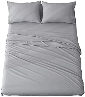 Shilucheng Queen Size Bed Sheets Set Microfiber 1800 Thread Count Percale Super Soft and..