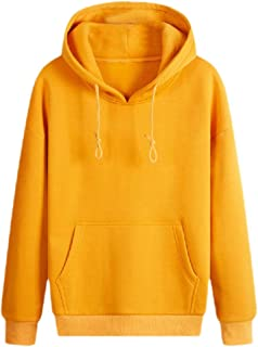 RkBaoye Mens Simple Loose Fit Solid Hooded Big Pockets Pullover Sweatshirt