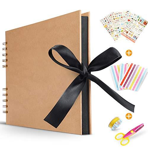 Koooper Libro Aventuras up, Álbum de Fotos DIY, Album up, Tijeras, Pegatinas Cumpleaños/Aniversario/Boda/Graduación