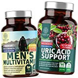 N1N Premium Uric Acid Support and Men's Multivitamins, All Natural Supplements to Support Energy Levels, Prostate Health and Urinary Tract Functions, 2 Pack Bundle