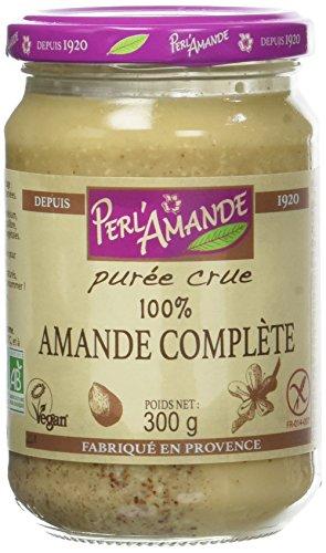 PERL'AMANDE - Purée Crue - 100% Amande Complète - Biologique - 300 g