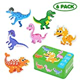 EKKONG Madera Educativos Juguetes Bebes,Rompecabezas de Animales de Madera (6 Pack),Adecuado para niños 1 2 3 4 años.