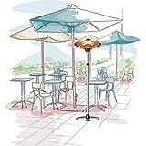 YBCM Freistehende Heizung für Zuhause, Terrassenheizer mit 3 Heizstufen, höhenverstellbar, Home Commercial Patio, 1200/1800/3000W