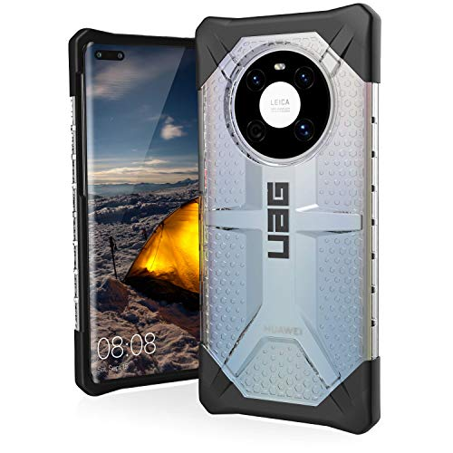 Urban Armor Gear Plasma Schutzhülle Huawei Mate 40 Pro Hülle [Wireless Charging kompatibel, Bildschirm- & Kameraschutz durch erhöhten Rand, Sturzfest, Ultra Slim Bumper] - Ice (transparent)