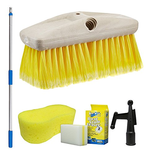 Star brite 040091-1FF Boat Brush 3'-6' Handle Combo with 8
