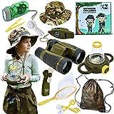 Kayka Zak Bug Catcher for Kids, Explorer Kit for Kids, Birthday Gift for Boys, Outdoor Toys, Binoculars, Magnifying Glass & Butterfly Net. Kids Bug Catching Kit, Camouflage Hat for Boys & Girls