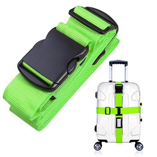 NUOLUX Gepäckgurt Kofferband Rutschfest Kreuz Gepäck Strap(Grün)