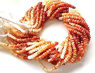 JP_Beads 1 Full Strands -Mexican Fire Opal Beads-Micro Facetd Rondelles 3-4mm
