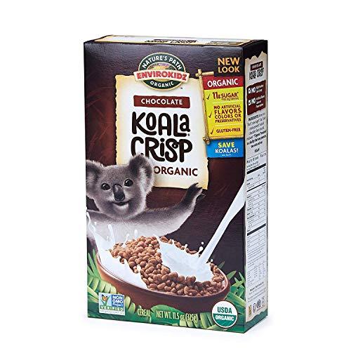 Koala Crisp Chocolate Organic Cereal, 11.5 Oz Box, Gluten Free