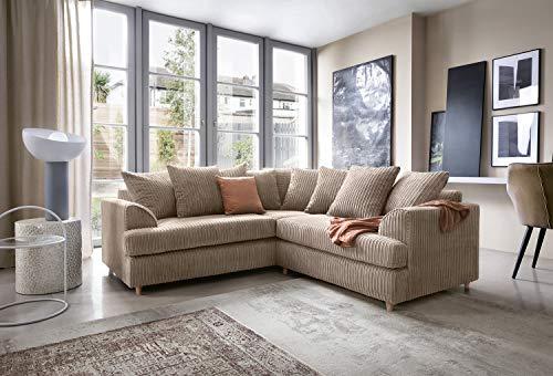 Ferguson Ecke Sofa in Cord Chenille-Stoff–Braun