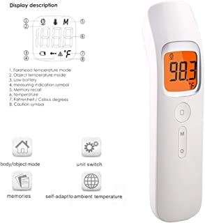 Multifuntional Infrared Thermometer, Muti-fuction Baby/Adult Digital Termomete Forehead Body Thermometer Gun Non-contact Temperature Measurement Device Color Alarm (Color : Type 4)