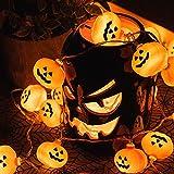 KPCB Halloween Lichterkette, Halloween Kürbis Deko Lichterkette, Kürbis Lichterkette für Halloween, 5.4m 40 LEDs Kürbis Lichter Batteriebetrieben für Halloween Party Hause Garten - 5