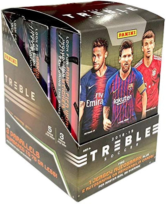 Panini Treble Soccer 2018 Tradingcards Hobby-Box (3 Packs) B07NVTYJN5 Lebensecht  | Öffnen Sie das Interesse und die Innovation Ihres Kindes, aber auch die Unschuld von Kindern, kindlich, glücklich