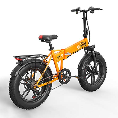 SHIJING Elektrische fiets, 20 x 4,0 inch, aluminium, opvouwbare elektrische fiets, 48 V10 A, 500 W, 40 km/u, 6 g, krachtige Fat Tire Bike Mountain Snow ebike, 1 stuks