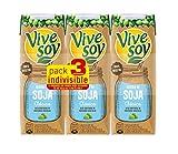 Vivesoy Bebida de Soja Natural Paquete, 3 x 250ml