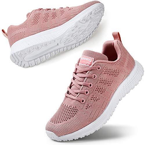 STQ Zapatos de caminar para mujer, informales, con cordones, zapatillas de correr