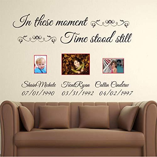 Muursticker Op deze momenten is de tijd nog meer, personaliseerbaar met letterstickers van vinyl voor de naam, personaliseerbaar, stickers van vinyl, C18-chocolade_120 cm breedte cooldeerydm