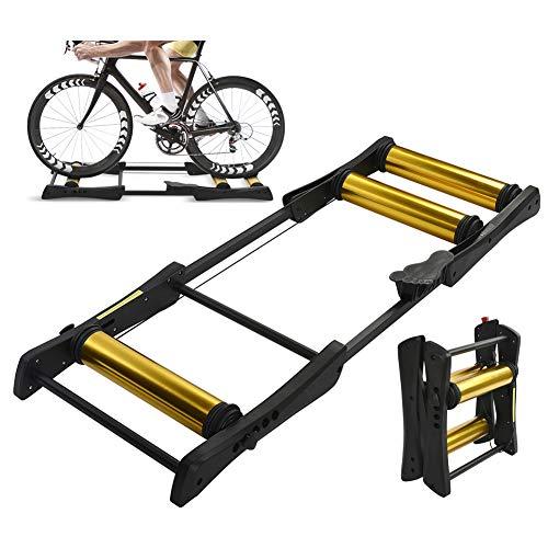 TANCEQI Bicicleta Plegable Rodillos Trainer Resistencia De Entrenamiento Soporte Entrenador del Camino...