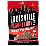 Louisville Vegan Jerky - Perfect Pepperoni, Vegetarian & Vegan-Friendly Jerky, 21 Grams of Non-GMO Soy Protein, 270 Calories Per Bag, Gluten-Free Ingredients (3 oz)