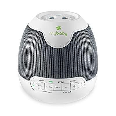 MyBaby, SoundSpa Lullaby - Sounds & Projection, Plays 6 Sounds & Lullabies, Image Projector Featuring Diverse Scenes, Auto-Off Timer Perfect for Naptime, Powered by an AC Adapter