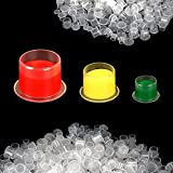 350PCS Tattoo Ink Cups, Disposable Tattoo Ink Caps with Base, Used for Tattoo Machine, Tattoo Supplies, Tattoo Needle, Tattoo Kit, Tattoo Ink Caps Cups is Divided Into Large/Medium/Small.