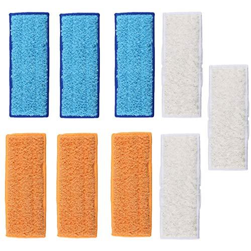 SATIC Almohadillas de Limpieza Lavables de 9 Piezas, Piezas de Repuesto de Almohadilla de Barrido para Aspiradora para Robots de Limpieza Braava 240241