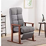 GFDFD Modern Living Room Chair y Tela de tapicería de Muebles Dormitorio Salón Sillón reclinable con reposapiés butaca Decorativa (Color : A)