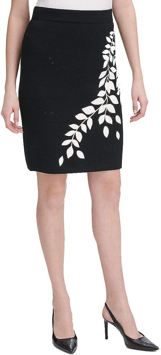 Calvin Attention brand Klein Women's Sweater 2021 autumn and winter new Skirt Graphic