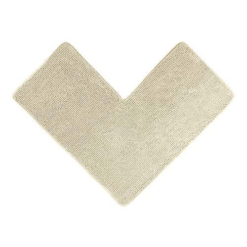 WohnDirect Eck Duschmatte Creme • idealer Duschvorleger für eckige Duschkabinen zum Set kombinierbar, rutschfest & Waschbar • Badematten & Badteppiche • 50 x 100 x 100 cm
