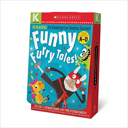 Funny Furry Tales A-D Kindergarten Reader Box Set: Scholastic Early Learners (Guided Reader)
