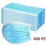 MaNMaNing Protección 3 Capas Transpirables con Elástico para Los Oídos Pack 400...