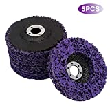 "5pcs Abrasive Wheel Grinder Strip Disc - 4"" Poly Rust Paint Removal Disc Clean Tool for Angle Grinder"
