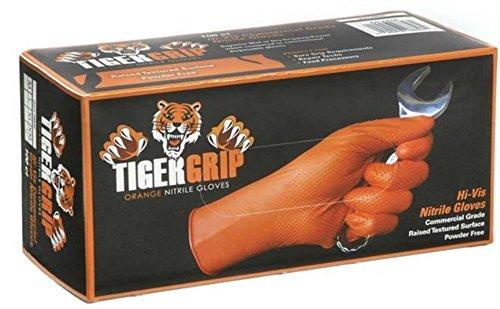 Preisvergleich Produktbild Tiger Grip Orange Nitril Handschuhe - X Large - 4 Boxen / 360 Handschuhe