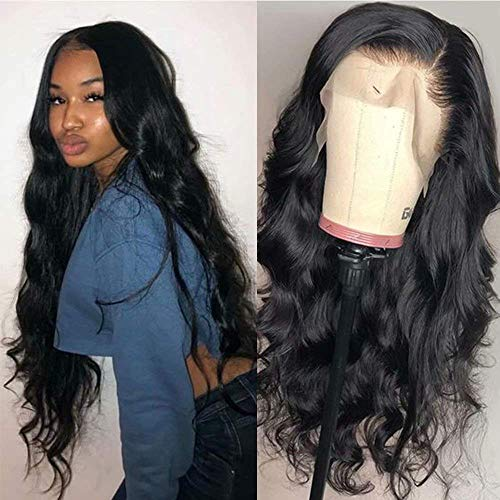 Maxine 10A Lace Front Wigs Human Hair with Baby Hair 13x6 Transparent Lace Wig Pre Plucked Bleached Knots Brazilian Remy Body Wave Human Hair Wigs for Women Natural Color 150% Density 22inch