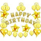 MIKI-Z Fiesta de cumpleaños Set Decoración para cumpleaños Kit de Decoraciones Happy Birthday Balloo