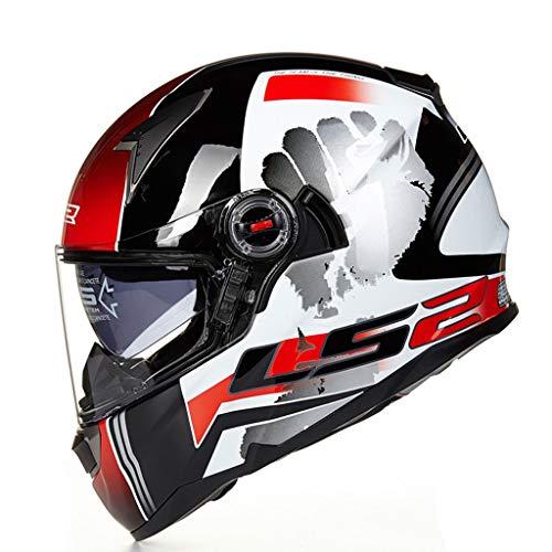 Casque anti-buée mâle pour casque de moto en fibre de verre double fibre de verre (Couleur : B-Xxl(60-61cm))