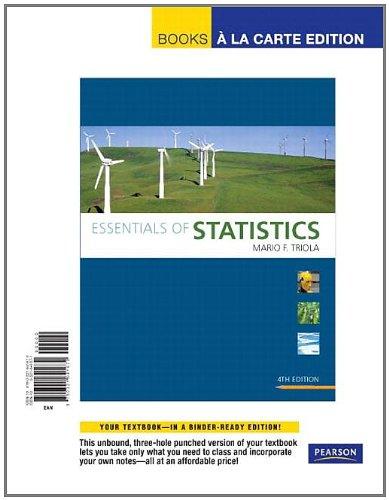 Essentials of Statistics: Books a La Carte Edition