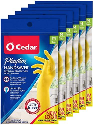 Playtex Handsaver Reusable Rubber Gloves (Medium, Pack - 6)