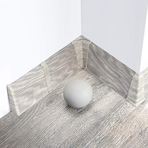 [DQ-PP] 2 Meter Sockelleiste 70mm PVC Eiche Boulder Laminatleisten Fussleisten aus Kunststoff PVC Laminat Dekore Fußleisten