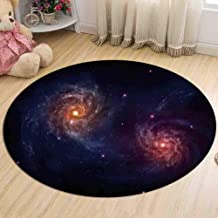 Carpet Bedroom Bedside Flannel Round Rugs Living Room Study Non-Slip Coffee Table Computer Chair Pad,2,80cm