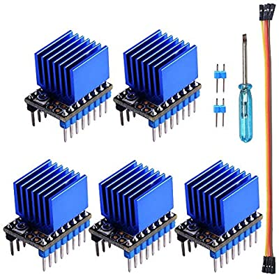 Owootecc 5Pack TMC2209 V1.0 Stepper Motor Driver Module Board With Heatsink For 3D Printer Support LV8729, TMC2208, A4988 Driver