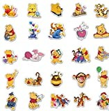 ZHXMD Anime Cartoon Winnie The Pooh Skateboard Water Cup Laptop Graffiti Waterproof Sticker Pvc Waterproof Sticker 50Pcs
