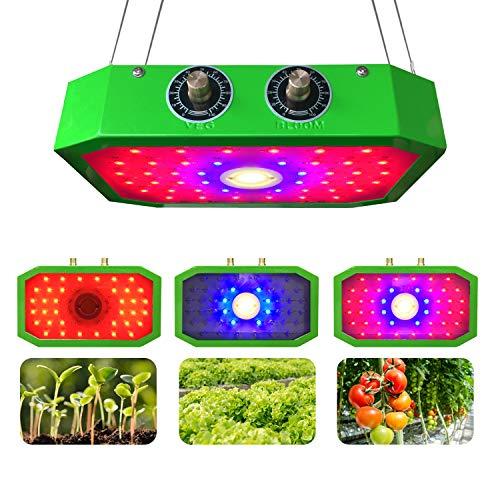 1000W COB Lámparas de Cultivo de Plantas, Luces de Cultivo LED para Plantas de Interior y plántulas El Espectro Completo de Contiene 44 Cuentas Verde