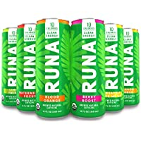 6-Pack Runa Organic Clean Energy Drink 12 Oz Sampler Pack